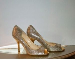 Nine West Silver/Gold Heels